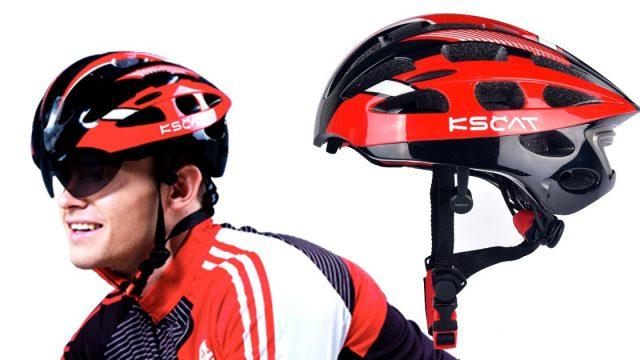 KSCAT หมวกจักรยานปั่นพร้อมหูฟังไร้สายแบบ Bone Conduction